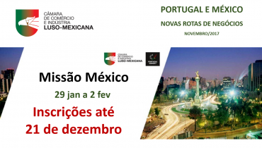 Leia a newsletter de novembro da Câmara Luso-Mexicana